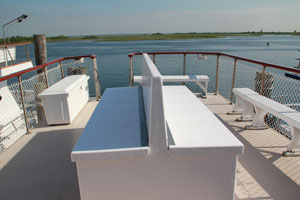 Beautiful upstair open to the sun and breeze seating on the captain whitakker